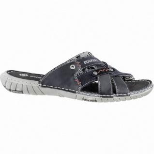 Dockers coole Herren Synthetik Pantoletten schwarz, Dockers Laufsohle, weiches Fußbett, 2440132/43