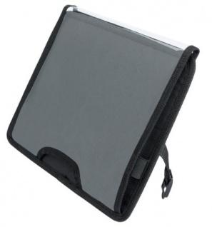 Universal PKW Tablet PC Halter für Kopfstützen schwarz 29, 5x22 cm, Neigungsverstellung, Kabelöffnung, Auto Rücksitze