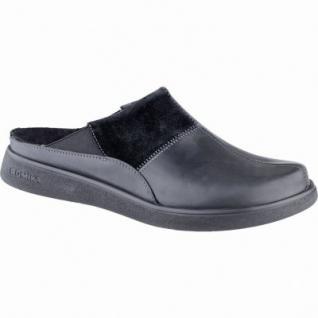 Romika Gomera H 01 Herren Leder Haus Pantoffeln schwarz, Warmfutter, warmes Fußbett, 2739101