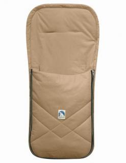 Baby Sommer Fußsack mit Baumwolle beige, waschbar, für Kinderwagen, Buggy, ca. 94x42 cm