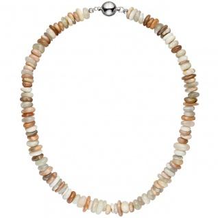 Halskette Kette Sonnenstein 45 cm Sonnensteinkette Steinkette Edelsteinkette