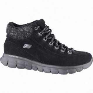 Skechers Synergy Arctic Winter coole Damen Leder Winter Boots black, Warmfutter, warmes Fußbett, 1639265