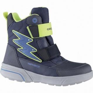 Geox Jungen Synthetik Winter Amphibiox Boots navy, 12 cm Schaft, molliges Warmfutter, Thermal Insulation, 3741119/34