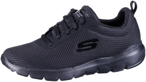 SKECHERS Flex-Appeal 3.0 Damen Mesh Sneakers black, Air Cooled Memory Foam Fu...