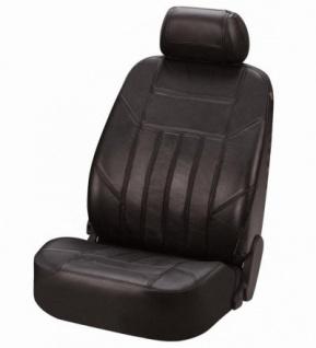 Universal Echt Nappa Leder Auto Sitzbezug schwarz, waschbar, für fast alle PKW, für Fahrersitz oder Beifahrersitz