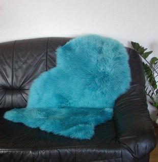 australische Lammfelle petrol gefärbt waschbar, Haarlänge ca. 70 mm, ca. 100x...