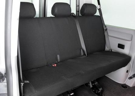 Passform Sitzbezüge Transporter VW T5, passgenauer Stoff Sitzbezug 3er Rückba...