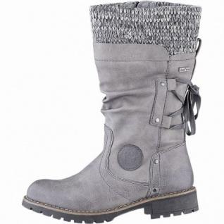 Jana Damen Leder Imitat Tex Stiefel stone, 27 cm Schaft, Extra Weite H, molliges Warmfutter, warme Decksohle, 1741178/42