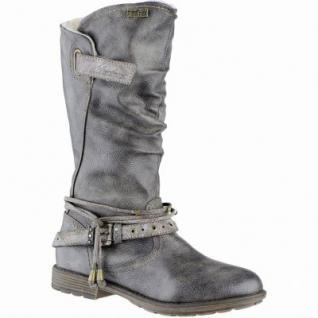 Mustang Mädchen Synthetik Winter Tex Stiefel grau, Warmfutter, warme Decksohle, 3739217/36