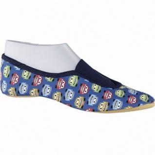 Beck Einhorn Mädchen, Jungen Textil Gymnastik Schuhe blau, Hauschuhe, Gummi Laufsohle, weiches Fußbett, 4241158/24