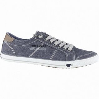 TOM TAILOR sportliche Herren Textil Sneakers navy, TOM TAILOR Decksohle, Sneaker Laufsohle, 2140138/43