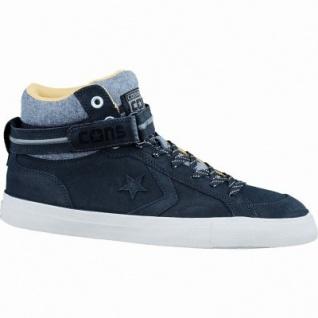 Converse Cons Pro Blaze Plus coole Herren Leder Sneaker black-charcoal-parch, Textilfutter, 2137132/42.5