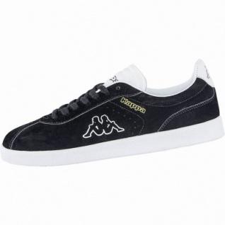 Kappa Legend coole Damen Velour Sneakers black, weiche Sneaker Laufsohle, 4240117/40