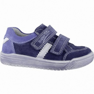 Superfit modische Jungen Leder Sneakers water, mittlere Weite, Superfit Leder Fußbett, 3340152/32