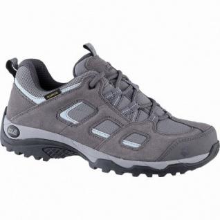 Jack Wolfskin Vojo Hike 2 Texapore Low Women Damen Leder Outdoor Schuhe tarmac grey, griffige Trekking-Sohle, 4442153/4.5