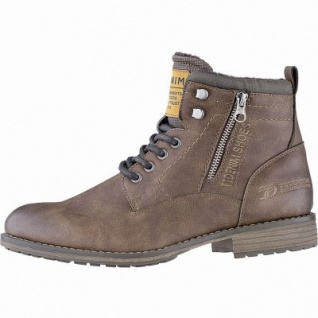 TOM TAILOR sportliche Herren Leder Imitat Winter Boots rust, 12 cm Schaft, molliges Warmfutter, warmes Fußbett, 2541118