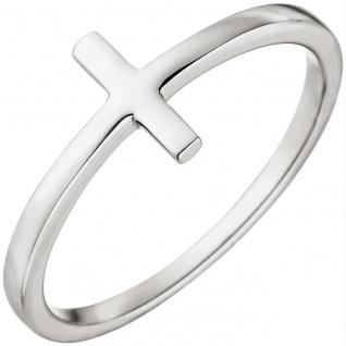 Damen Ring Kreuz 375 Gold Weißgold Weißgoldring Kreuzring