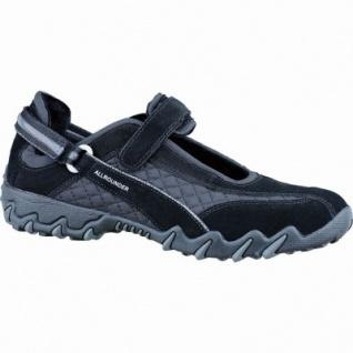 Allrounder by Mephisto Niro Damen Leder Sneaker schwarz, Fußbett, All-Grip-Laufsohle mit Kautschuk, 1237101/4.0