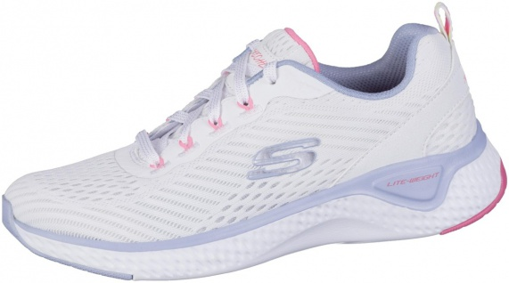 SKECHERS Solar Fuse Damen Mesh Sneakers weiß, Air Cooled Memory Foam Fußbett
