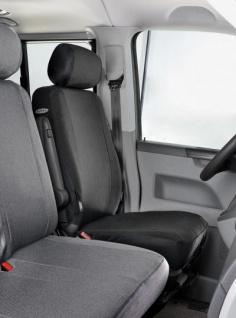 Passform Sitzbezüge Transporter VW T5, passgenauer Stoff Sitzbezug Einzelsitz vorn, Bj. 04/2003-08/2009
