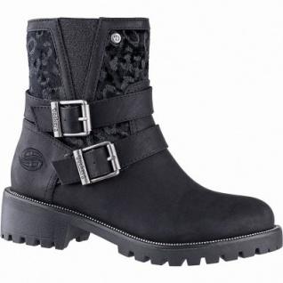 Dockers coole Mädchen Leder Imitat Winter Stiefel schwarz, Fleecefutter, warme Decksohle, griffige Profilsohle, 3741247/36