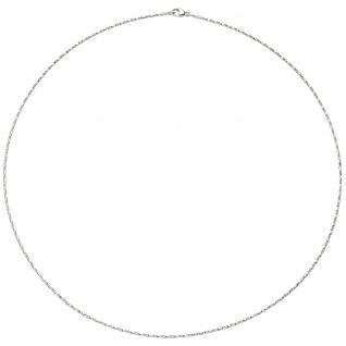 Halsreif Halskette 750 Gold Weißgold diamantiert 1, 0 mm 42 cm Kette Weißgoldkett