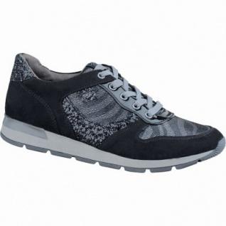 Soft Line trendige Damen Synthetik Sneakers schwarz, Extra Weite H, Soft Line-Fußbett, 1337102