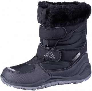 KAPPA Gurli Tex Mädchen Winter Synthetik Boots black, Warmfutter, wasserdicht...