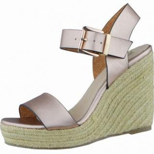 H3 Shoes modische Damen Synthetik Plateau Sandalen rose gold, modisches Metallisematerial. 1438107/39