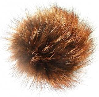 Echt Fuchsfell Fellbommeln fuchsfarben natur, Ø ca. 10 cm, mit Schlaufe