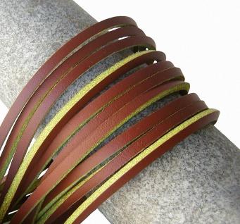 1 Paar Docksider Leder Schuhriemen natur, Länge 120 cm, Stärke ca. 2, 8 mm, Br...