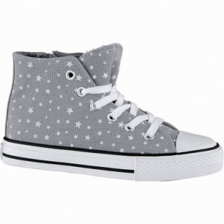 Canadians coole Mädchen Glamour Synthetik Sneakers High grey, weiches Fußbett, 3340142