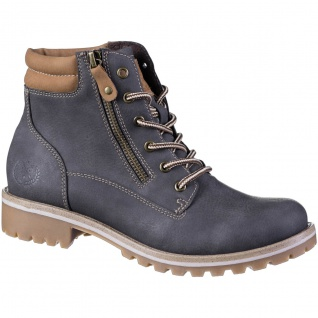 JANE KLAIN Damen Synthetik Boots dark grey, Fleecefutter, weiche Super Soft D...