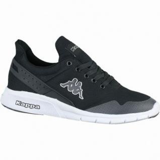Kappa New York coole Damen, Herren Mesh Synthetik Sneakers black white, Sneaker Laufsohle, 4238205/43