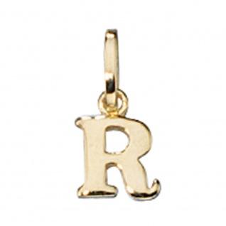 Anhänger Buchstabe R 333 Gold Gelbgold Buchstabenanhänger