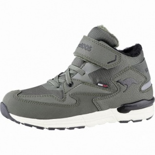 Kangaroos Snibo EV RTX Jungen Winter Tex Sneakers olive, 7 cm Schaft, Warmfutter, warmes Fußbett, Laschen Tasche, 3741252/36