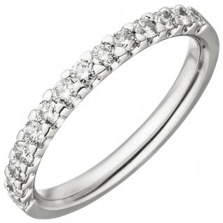 Damen Ring 585 Gold Weißgold 14 Diamanten Brillanten 0, 56 ct. Diamantring