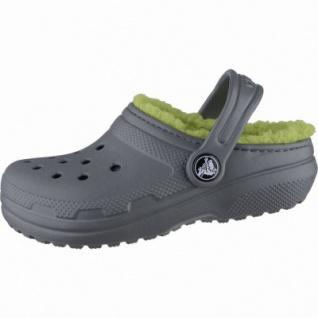Crocs Classic Lined Clogs Kids Jungen Winter Crocs grey, Warmfutter, warmes Fußbett, 4339106/28-29