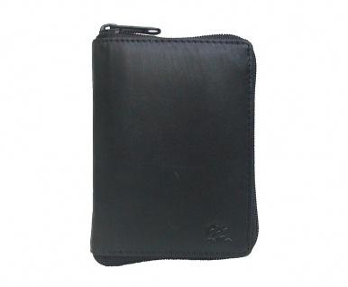 Dolphin praktische Damen Leder Reißverschluss Geldbörse schwarz, 2 x EK-Chip,...