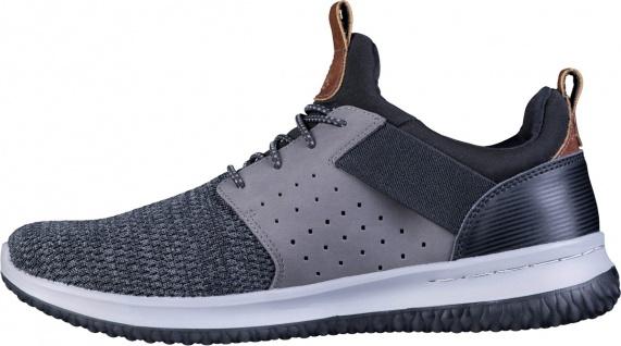 SKECHERS Delson cooler Herren Sneaker black, Strickmaterial, Air Cooled Memor...