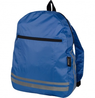 Safety Maker faltbarer Rucksack reflektierend blau, sichtbar bis 100 m, integ...