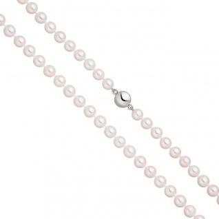Perlenkette mit Akoya Zuchtperlen 45 cm Magnet-Schließe aus 925 Sterlingsilber