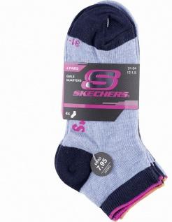 Skechers Basic NOS Quarter Girls Mädchen Socken stone, 4er Pack Skechers Mädc...