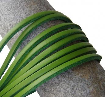 1 Paar Docksider Leder Schuhriemen hellgrün, Länge 120 cm, Stärke ca. 2, 8 mm,...