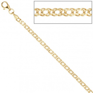 Zwillings-Panzerkette 333 Gelbgold 2, 7 mm 45 cm Gold Kette Halskette Goldkette