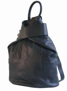 Eastline Damen Leder Rucksack blau, auch als Tasche nutzbar - Vorschau 2