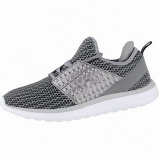 Kangaroos Bumpy Future coole Damen Mesh Sneakers steel grey, Memory Foam-Fußbett, Laschen-Tasche, 4240133