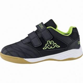 Kappa Kickoff Jungen Synthetik Sportschuhe black, auch als Hallen Schuh, Meshfutter, herausnehmbares Fußbett, 4041120/39