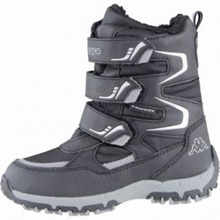 Kapppa Great Tex coole Jungen Synthetik Winter Tex Boots black silver, Warmfutter, Profil Laufsohle, 3739107/34