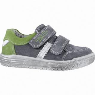Superfit modische Jungen Leder Sneakers smoke, mittlere Weite, Superfit Leder Fußbett, 3340153/33